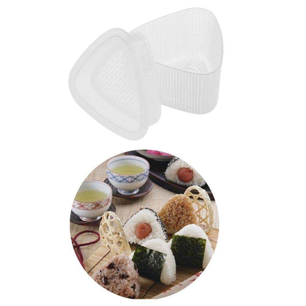 Chic MCYH YH011 Triangle Sushi Large Mold Onigiri Bento Maker Mould DIY Tool 2pcs