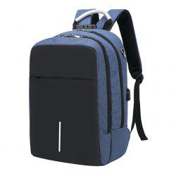 Large Capacity Burglar-proof Oxford Cloth Backpack with USB Charging Port -