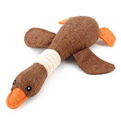 Lovely Wild Goose Pet Dog Puppy Toy Play Fetch Cat Chew Squeaker - Коричневый