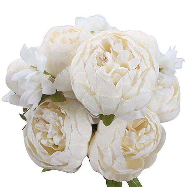 Outfits High-End European Style Core Peony Artificial Flower for Wedding Decoration and Home Decoration