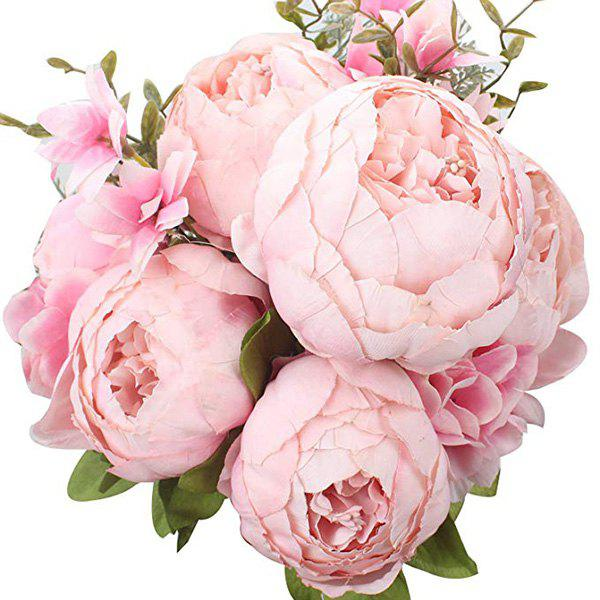 Latest High-End European Style Core Peony Artificial Flower for Wedding Decoration and Home Decoration