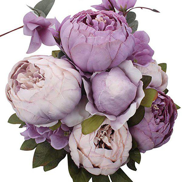 New High-End European Style Core Peony Artificial Flower for Wedding Decoration and Home Decoration