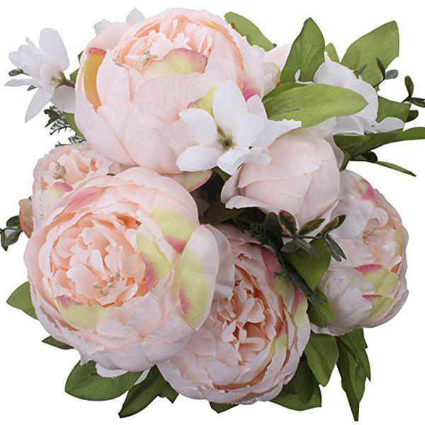 Store High-End European Style Core Peony Artificial Flower for Wedding Decoration and Home Decoration