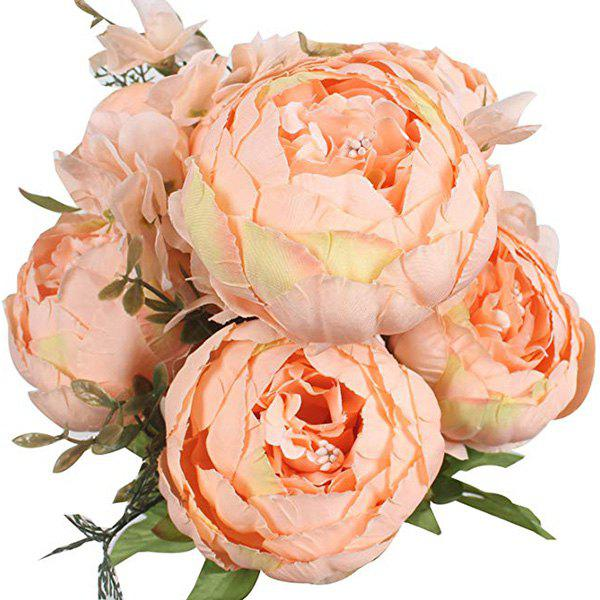 Discount High-End European Style Core Peony Artificial Flower for Wedding Decoration and Home Decoration
