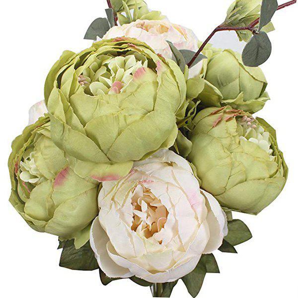Affordable High-End European Style Core Peony Artificial Flower for Wedding Decoration and Home Decoration