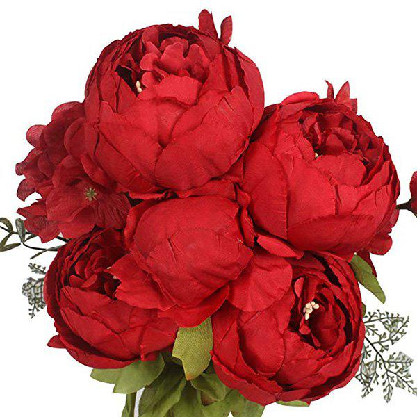 Sale High-End European Style Core Peony Artificial Flower for Wedding Decoration and Home Decoration