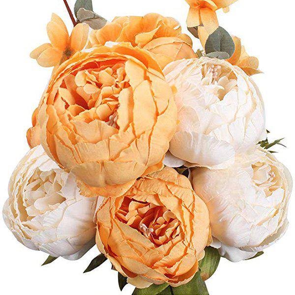 Outfit High-End European Style Core Peony Artificial Flower for Wedding Decoration and Home Decoration