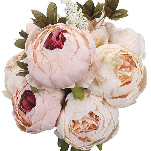 Trendy High-End European Style Core Peony Artificial Flower for Wedding Decoration and Home Decoration
