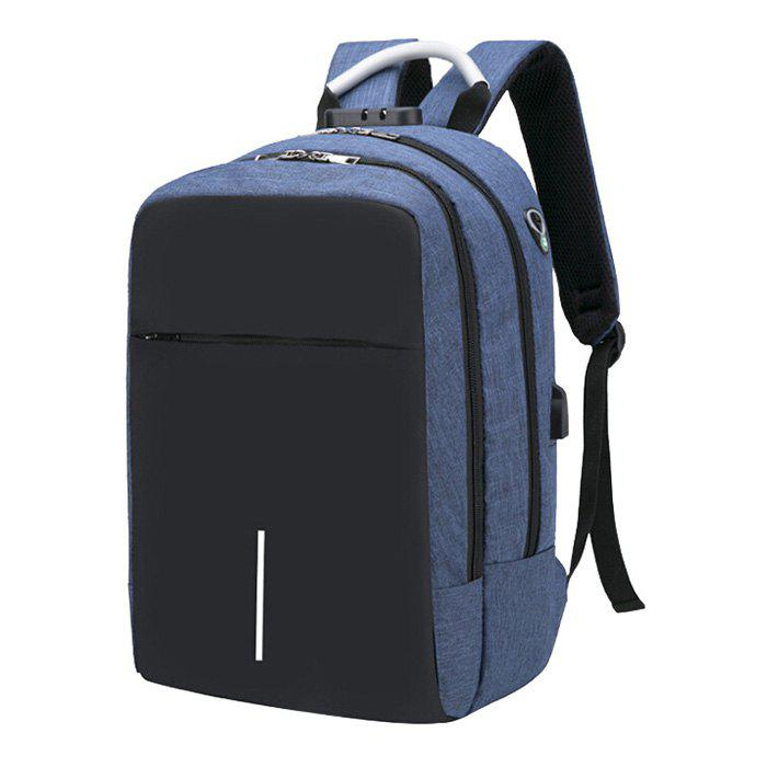 Cheap Large Capacity Burglar-proof Oxford Cloth Backpack with USB Charging Port