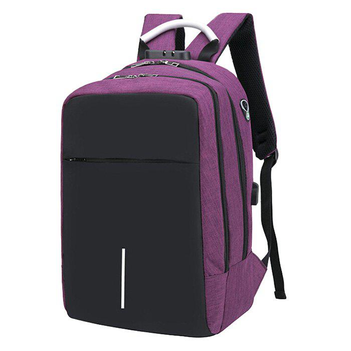 Online Large Capacity Burglar-proof Oxford Cloth Backpack with USB Charging Port