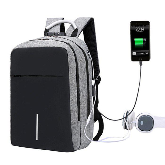 Latest Large Capacity Burglar-proof Oxford Cloth Backpack with USB Charging Port