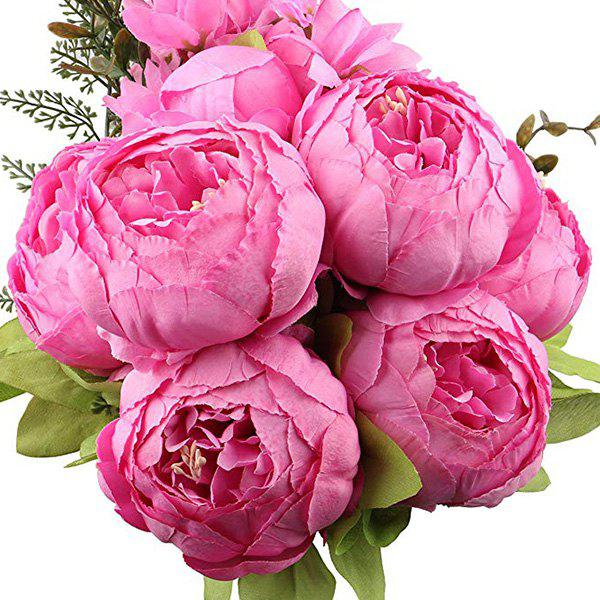 Fancy High-End European Style Core Peony Artificial Flower for Wedding Decoration and Home Decoration