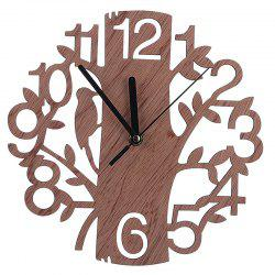 Creative Wooden Home Wall Clock Delicate Tree Pattern -