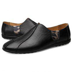 Fashion Wear-resistant Leather Flat Shoes for Men -