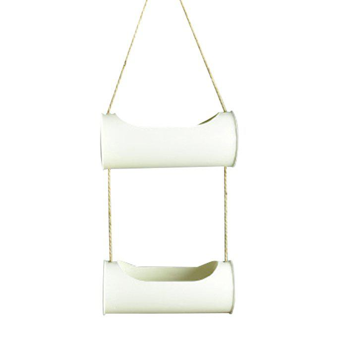 Outfit Creative Iron + Hemp Rope Hanging Basket Home Decoration