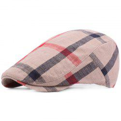 Grid Cotton Casual Breathable Outdoor Visor Forward Hat Cap Beret -