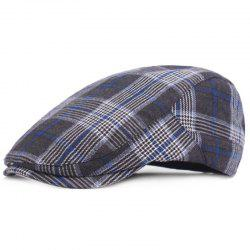 Casual Breathable Outdoor Grid Cotton Visor Forward Hat Cap Beret -