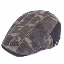 Camouflage Male Female Cap Outdoor Visor Washed Cotton Cloth Beret -