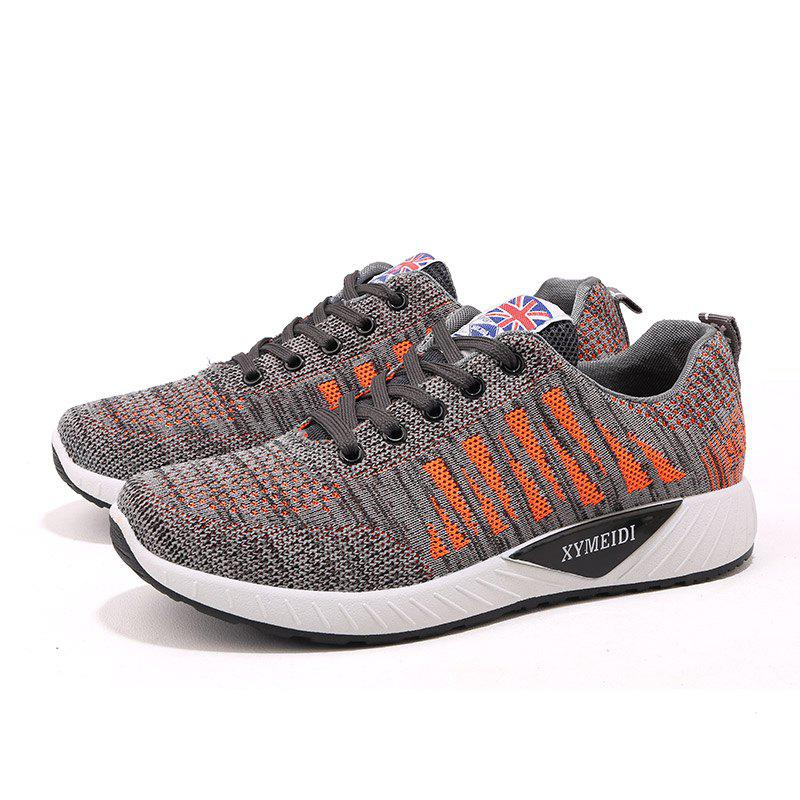 Online Male Breathable Comfort Lace-up Mesh Casual Shoes