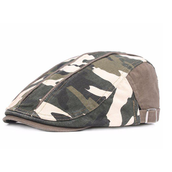 Best Camouflage Male Female Cap Outdoor Visor Washed Cotton Cloth Beret