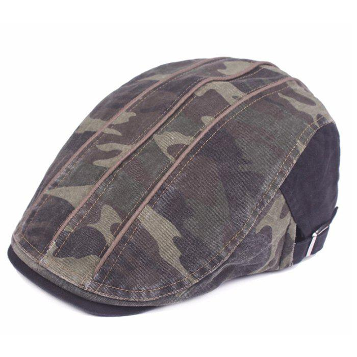 Hot Camouflage Male Female Cap Outdoor Visor Washed Cotton Cloth Beret