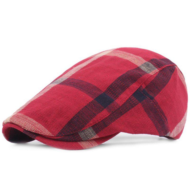 Discount Grid Cotton Casual Breathable Outdoor Visor Forward Hat Cap Beret