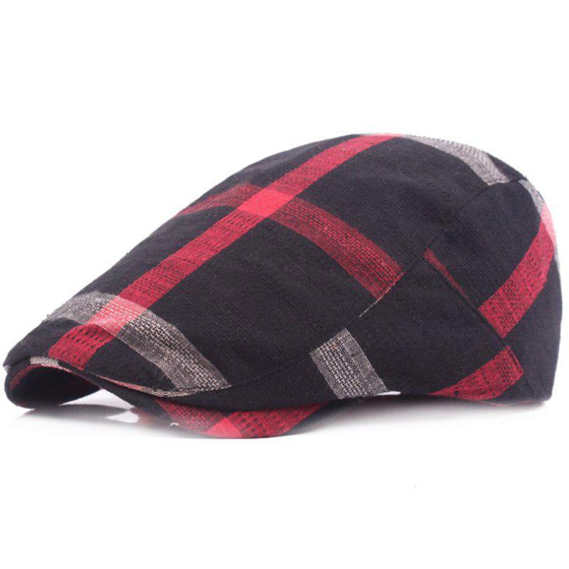 New Grid Cotton Casual Breathable Outdoor Visor Forward Hat Cap Beret