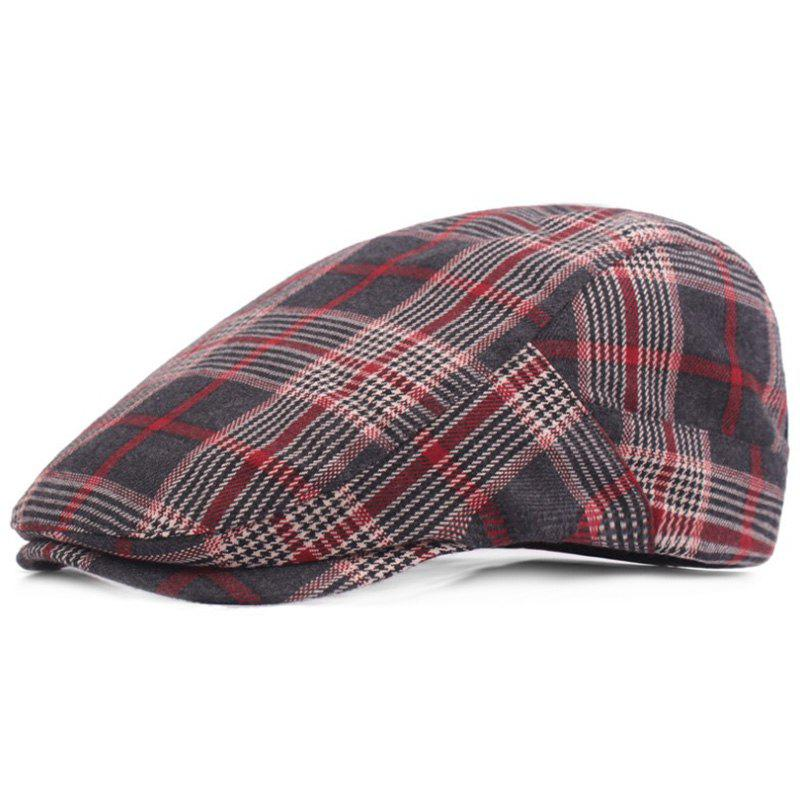 Shops Casual Breathable Outdoor Grid Cotton Visor Forward Hat Cap Beret