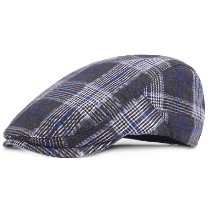 Sale Casual Breathable Outdoor Grid Cotton Visor Forward Hat Cap Beret