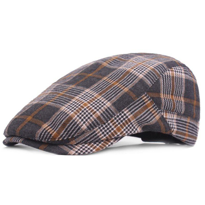 Discount Casual Breathable Outdoor Grid Cotton Visor Forward Hat Cap Beret