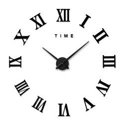 DIY Roman Numerals Wall Clock -