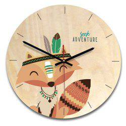Wood Cartoon Style Wall Clock -