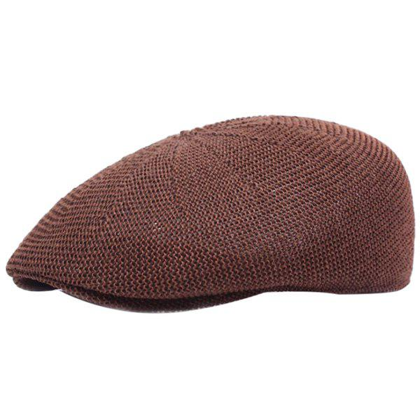 Trendy Casual Breathable Outdoor Hollow-out Visor Forward Hat Cap Beret