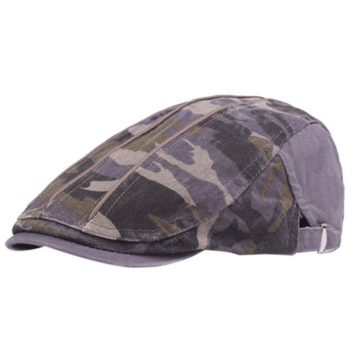 Cheap Camouflage Male Female Cap Outdoor Visor Washed Cotton Cloth Beret