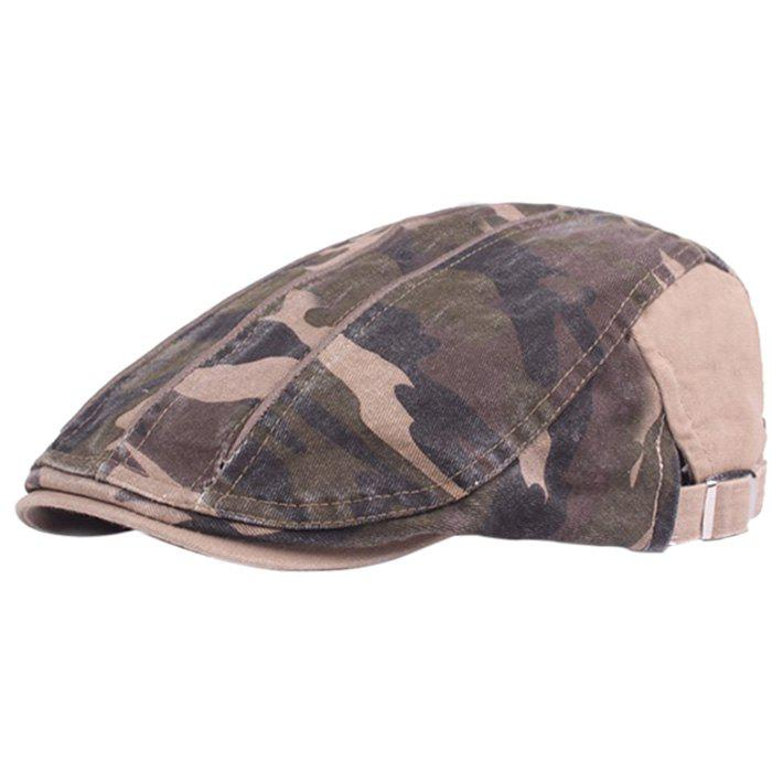 Affordable Camouflage Male Female Cap Outdoor Visor Washed Cotton Cloth Beret