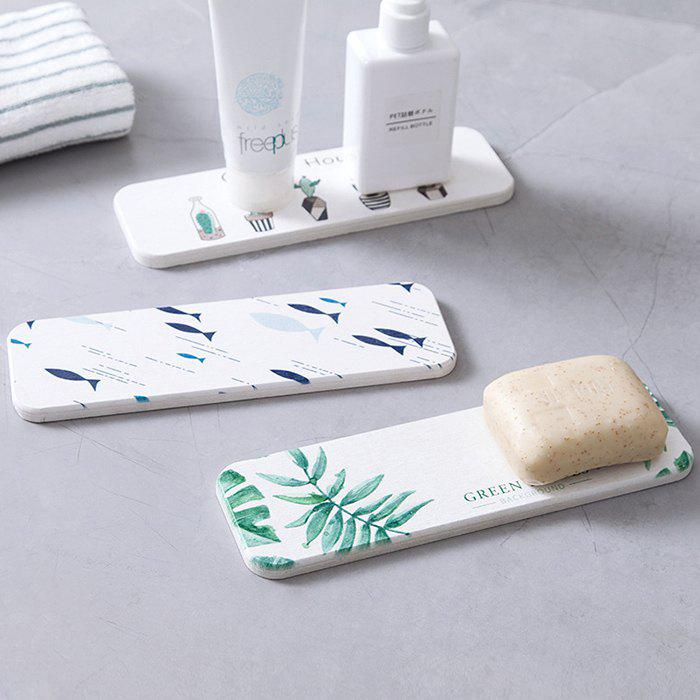 Unique Diatomite Soap Holder Toothbrush Stand Washstand Waterproof Pad