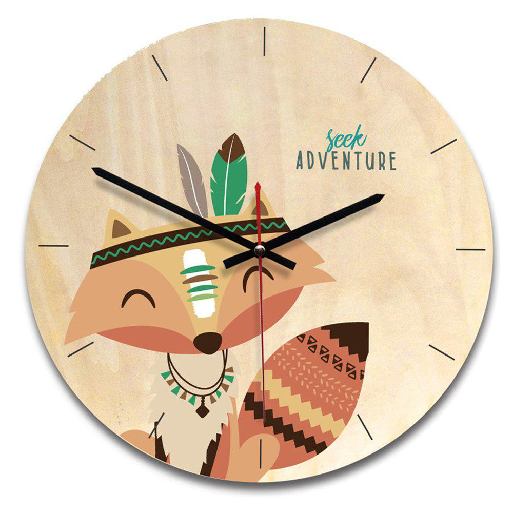 Shop Wood Cartoon Style Wall Clock