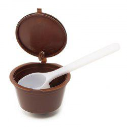 Filter Capsule Cup With One Spoon for Using -
