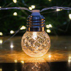 LED Solar Waterproof Warm White String Light with 10 Bulb -