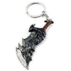 Broadsword Shape Alloy Keychain -