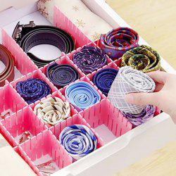 DIY Drawer Plastic Partition Cutting for Underwear Storage 4PCs -