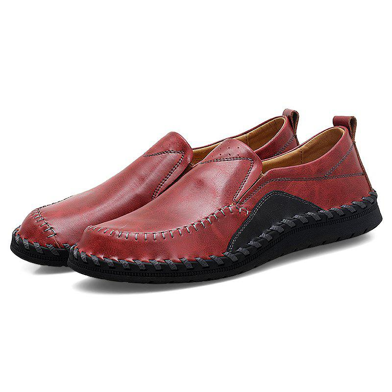 Discount Breathable Round Toe Platform Flat Heel Casual Shoes for Men
