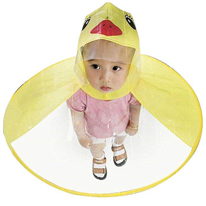 Trendy Creative Little Yellow Duck Raincoat Toy Great Gift for Children