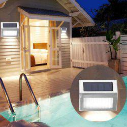 3 LED Solar Stair Light Stainless Steel Pathway Lamp Decoration -