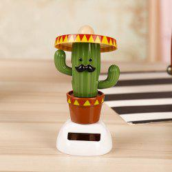 Cactus Cartoon Solar Powered Shaking Head Car Ornament -