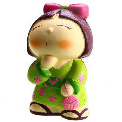 VLAMPO Creative PU Japanese Doll Squishy Toy for Relieving Pressure 1pc -