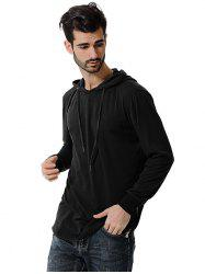 Comfortable Men Large Size Casual Long Sleeved Hoodie -