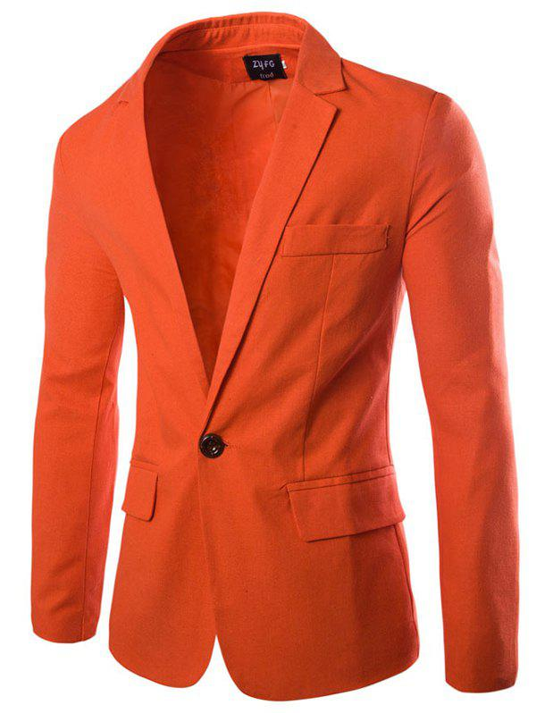 Hot Stylish Casual Slim Fit One Button Suit Jacket Blazer for Men