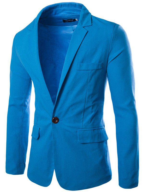 Fancy Stylish Casual Slim Fit One Button Suit Jacket Blazer for Men