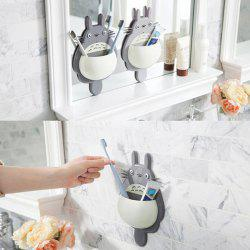 Three Suction Cups Multipurpose Toothbrush Holder for Storage -
